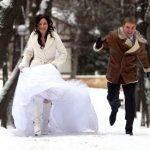 Как зимой одеться на свадьбу