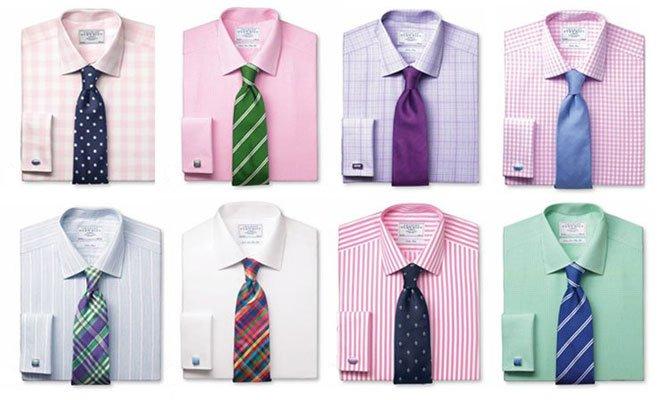 какой галстук подойдет к фиолетовой рубашке частных