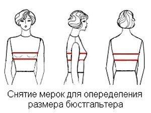 Нужные мерки для определения размера бюста