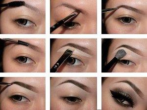 Как красиво красить брови карандашом